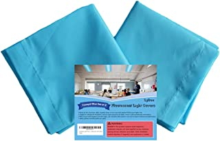 Lyfree Fluorescent Light Covers, Reducing Glare Harsh Flicker, Premium Fluorescent Light Filters for Classroom, Home, Office - (2 Pack, Tranquil Blue, 4ft x 2ft)