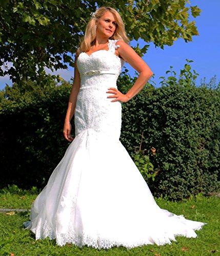 Luxus Brautkleid Hochzeitskleid Spitze // Meerjungfrau // Herzausschnitt - 6