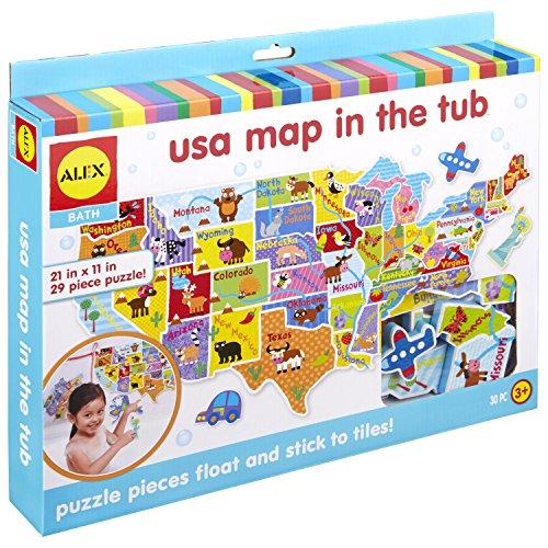 Alex Bath USA Map in The Tub Kids Bath Activity