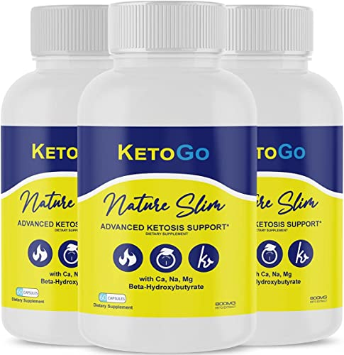 new arrival (3 Pack) Keto Go popular Diet Pills Ketogo 2021 Nature Natural Slim BHB Fit Capsule Tablets Advanced Weight Management 800mg (180 Capsules) outlet online sale