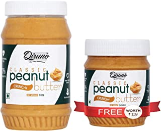 Diruno® Peanut Butter Crunchy 1Kg (Buy 1kg Get 340g Free)