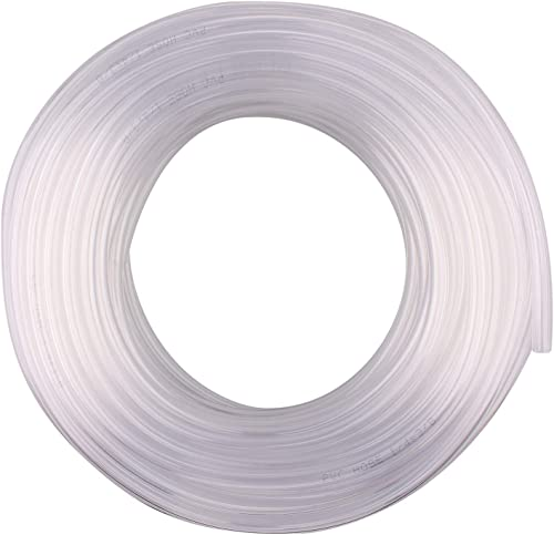 "DERNORD PVC Tubing 1/4""ID X 3/8""OD Flexible Clear Vinyl Hose 100 Feet for Food Grade"