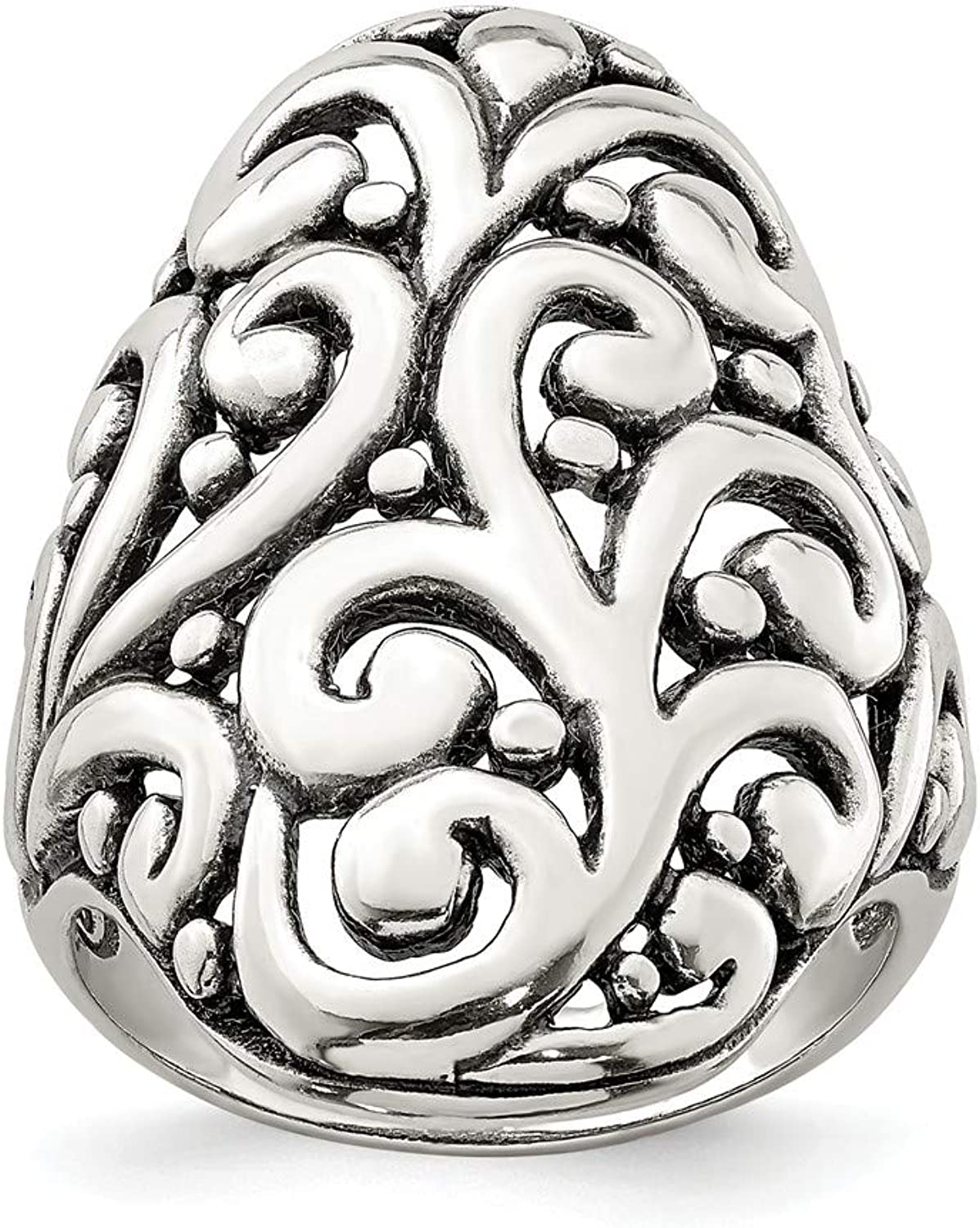 Beautiful Sterling silver 925 sterling Sterling Silver Antiqued Filigree Ring
