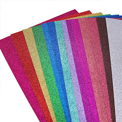 Glitter Cardstock Paper,30 sheets, Sparkle Shinny Craft Sheets , Multi Color Rainbow Glitter Cardstock, Premium A4 Glitter Paper ,300 GSM, DIY Party Decorations ,15 Colors,One Sided (Pack of 2)