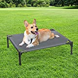 BABYLTRL Elevated Dog Bed, Portable Raised Pet Cot, Sturdy & Breathable Fabric Mat,Dog Cot for Extra Large Medium Small Dogs,Multiple Sizes,No-Slip Feet, Indoor or Outdoor Use