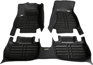 TuxMat Custom Car Floor Mats for Chrysler 300/300C RWD 2011-2020 Models- Laser Measured, Largest Coverage, Waterproof, All Weather.The BestChrysler 300/300C Accessory. (Full Set - Black)