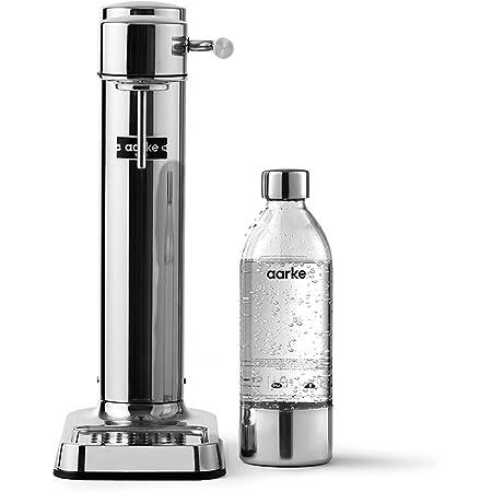 aarke Machine à Eau pétillante Carbonator 3 avec boîtier en acie Finition Acier r Inoxydable et Bouteille en Pet de qualité supérieure