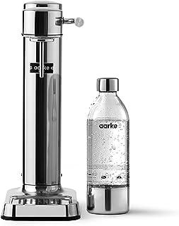 Aarke Carbonator 3 kolsyremaskin i rostfritt stål och PET-flaska av premiumkvalitet Stål