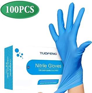 Maylai 100 Guantes desechables de nitrilo guantes latex de