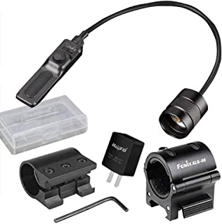 Fenix Bundle ALG 00 Mount, AER-02 Remote Pressure Switch,ALG-01 Rail Mount,Adapter,Battery case