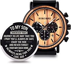 father son wooden watch