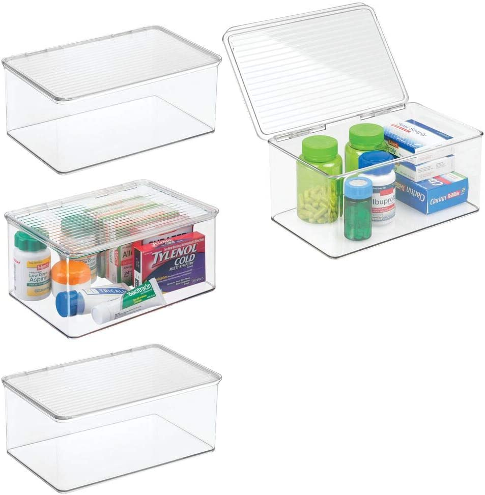 Badutensilienbehälter mDesign 20er Set Aufbewahrungsbox mit Deckel ...