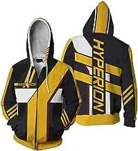 zhacaoji Men's Hoodies Jacket Zipper Coat 3D Printing Long Sleeve Cosplay Costume