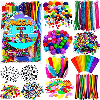 GoodyKing Arts and Crafts Supplies for Kids - Craft Art Supply Kit for Toddlers Age 4 5 6 7 8 9 - All in One D.I.Y. Crafting Collage Arts Set for Kids by GoodyKing