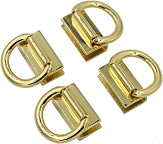 DGOL 4 Sets Handbag Strap Shoulder Clasp Zinc Alloy Handle Clip Clasp Holder D Ring Buckles