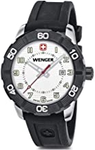 Wenger Roadster Black Dial Silicone Strap Men's Watch 010851109