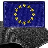 Parche Bandera Unión Europea para Ropa Hombres y Mujeres – 8 x 5 cm - Escudo Bordado Militar Táctico UE Colores Originales Chaqueta Mochila Crossfit Aplicaciones para Coser Emblema Europa Aplique