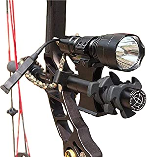 Yannuo Trading Tactical C8T6 /C8Q5/600/1200 Lumen Archery Compound Bow Sight Flashlight with Damper Mount