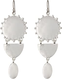 Lucky Brand Medallion Statement Earrings