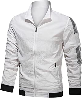 Summer men's sun protection jacket casual thin jacket men's breathable stand-up collar large size