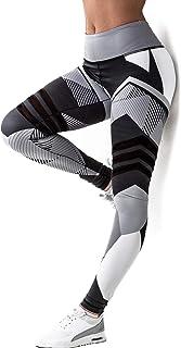SEASUM Women 3D Printed Leggings Sports Gym Yoga Capri Workout High Waist Running Pants Causual Fitness Tights Dry Fit