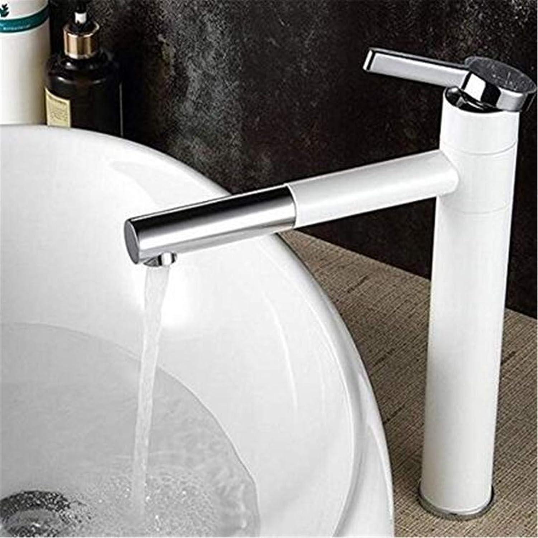 Faucets Basin Mixer Faucet Washbasin Single Lever Basin Sink Bathroom Bath Chrome White