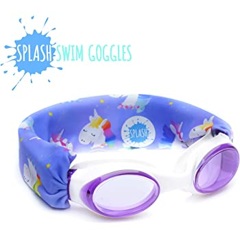 Fashionable Tahiti Wont Pull Your Hair High Visibility Anti-Fog Lenses Original Patent Pending Design Fun Fits Kids and Adults SPLASH Swim Goggles Comfortable Easy to Use