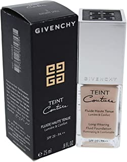 Givenchy Teint Couture Long-wearing Fluid Foundation SPF 20, No. 2 Elegant Shell, 0.8 Ounce