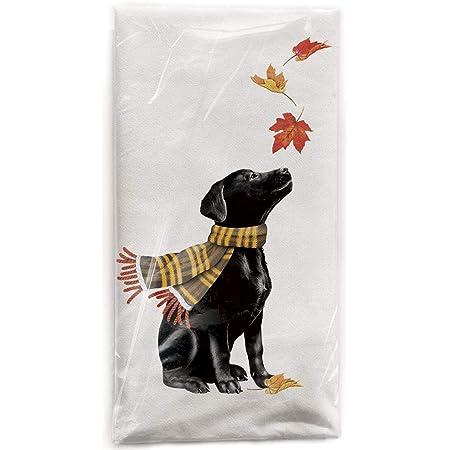 Black Labrador Tea Towel