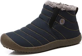 Women Men Fully Fur Lined Waterproof Anti-Slip Outdoor Slippers Ankle Boots House Slipper