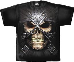 Spiral T-shirt Skull - doodshoofd met masker en ke...