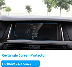"""TTCR-II for BMW 5 6 7 Series Navigation Display Screen Protector Foils, Anti-Explosion Touch Screen Protector[0.3mm,9H Hardness],Tempered Glass Console LCD Screen Protector Films [10.2"""" Rectangle]"""