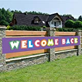 Welcome Back Banner,Back Home Welcome Sign,Extra Large Homecoming Party Decorations(Welcome Back)