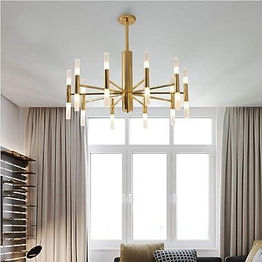 BOKT Post Modern Lighting 20-Light Hanging Chandelier Lighting Island Frosted Glass Lampshade G4 Lamp Socket led Lights Fixtu