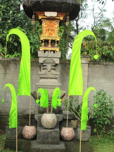 Asiastyle Bali-Fahne, maigrün, 55cm inkl. Stock