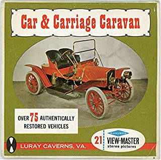 Classic ViewMaster - Car & Carriage Caravan - Luray Caverns - 21 3D Images