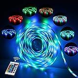 Ruban LED Etanche 5M 2835 RGB,300 LED avec Télécommande 24 touches,...