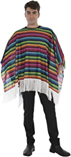 Fancy Dress 80cm Multicolour Mexican Bandit Poncho