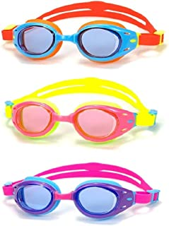 Yuenree Kids Swim Goggles 3 Pack - Swimming Goggles for...