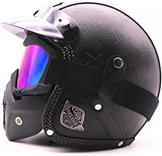 BLLJQ Modular Casco Moto Jet Helmets with Waterproof Breathable,A,S