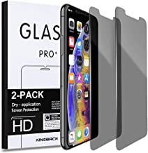 Privacy Screen Protector for iPhone Xs Max 11 Pro Max KINGBACK [Anti-Spy] [Anti-Scratch] [3D Touch Compatible] Tempered Glass for iPhone Xs Max 11 Pro Max 6.5 Inch (2 Pack) - Work with Most Case