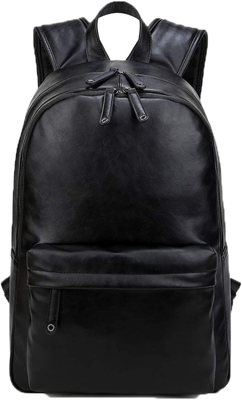 Hemio Männer Daypacks Leder Schultasche Wasserdicht Rucksack 15 Zoll Laptop Schulrucksäcke Freizeit Rucksäcke B07KWPX1GG  Karamell, sanft