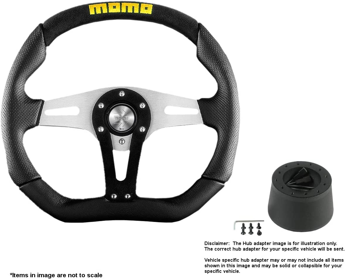 safety MOMO Trek 350mm Max 70% OFF 13.78 Inches Wheel Steering Brushed Leather w