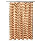 Amazon Basics - Duschvorhang, Fischgrätmuster, Terrakotta