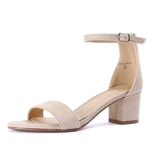 b1be57c922d Beige Block Heel Sandals: Amazon.com