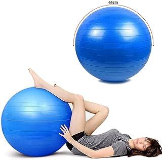 كرة رياضية مقاومة للانفجار للياقة البدنية وقاعات الرياضة المنزلية واليوغا والحمل وبعد الولادة، 65 سم، ازرق