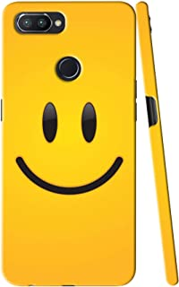 ADI CREATIONS Designer Back Case & Cover for Oppo F9,Oppo F9 Pro,Realme U1,Realme 2 Pro Laugh Smile Emoji Yellow Gredient