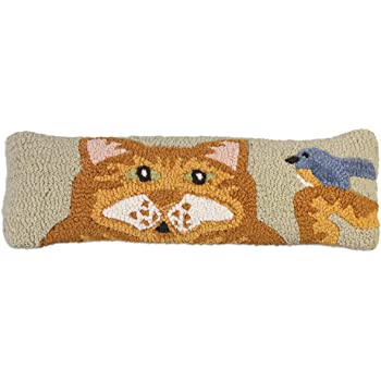 Chandler 4 Corners Get Lost 8 x 24 Hooked Wool Pillow