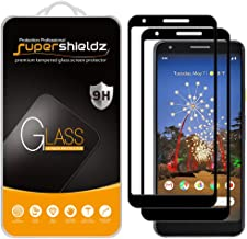 (2 Pack) Supershieldz for Google (Pixel 3a XL) Tempered Glass Screen Protector, (Full Screen Coverage and Full Adhesive) Anti Scratch, Bubble Free (Black)