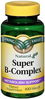 Spring Valley - Super B-Complex, 100 Tablets